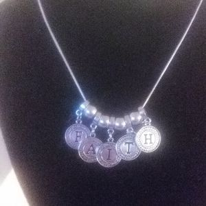 Jewelry - Faith 925 Sterling silver necklace